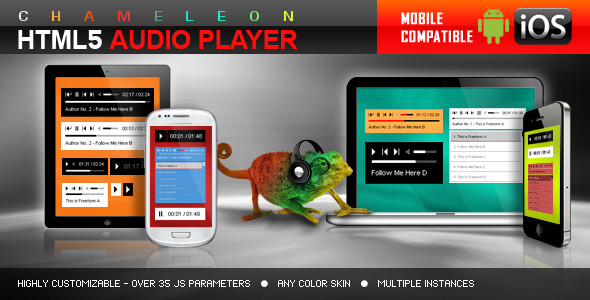 Chameleon HTML5 Audio Player With/Without Playlist - CodeCanyon Item for Sale
