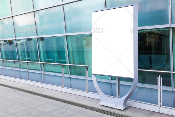 Blank billboard in city - Stock Photo - Images