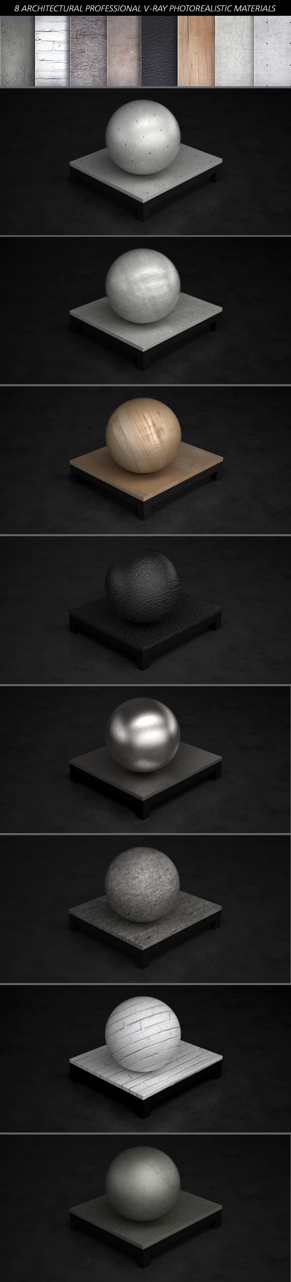 3DOcean V-Ray Architectural Photorealistic Materials 3561515
