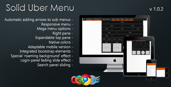 Solid Uber Menu - Responsive Menu Set - CodeCanyon Item for Sale