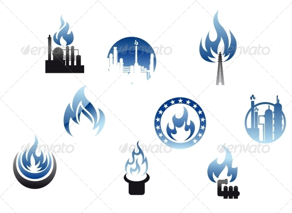 GraphicRiver Gas Industry Symbols and Icons 3562239