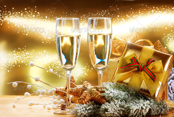 New Year and Christmas Celebration - Stock Photo - Images