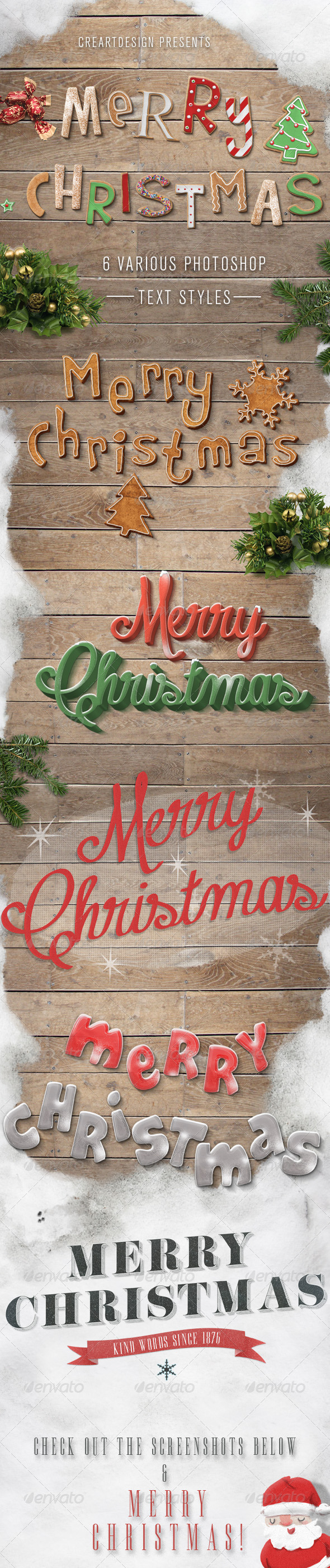 Christmas Text Effects And Styles - Text Effects Styles