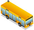 Isometric Yellow Bus - PhotoDune Item for Sale