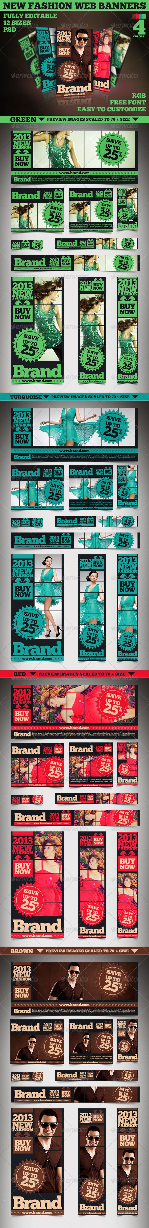 New Fashion Web Banners & Advertise - Banners & Ads Web Elements