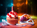 surprise cupcake with candle - PhotoDune Item for Sale