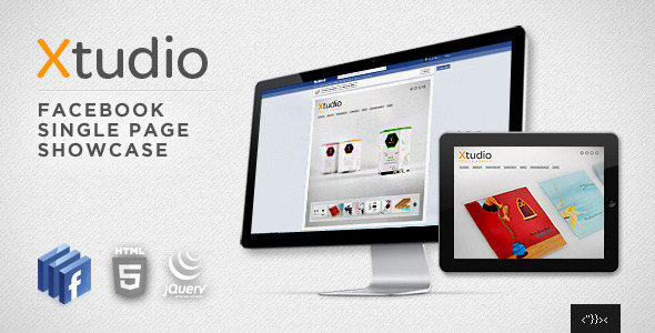 Xtudio - Facebook Single Page Showcase - Creative Site Templates