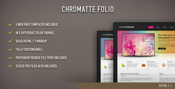 ThemeForest Chromatte Folio HTML Template 95324
