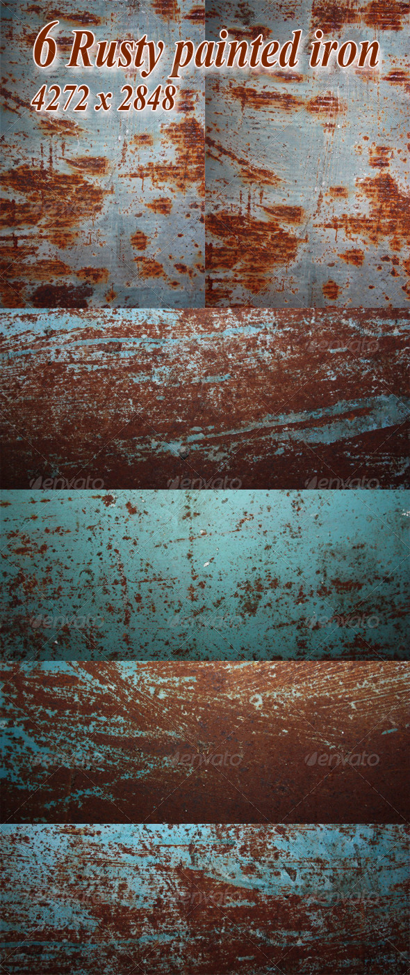 Rusty Painted Iron - Metal Textures