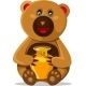 Smiling Bear with Honey Pod - GraphicRiver Item for Sale