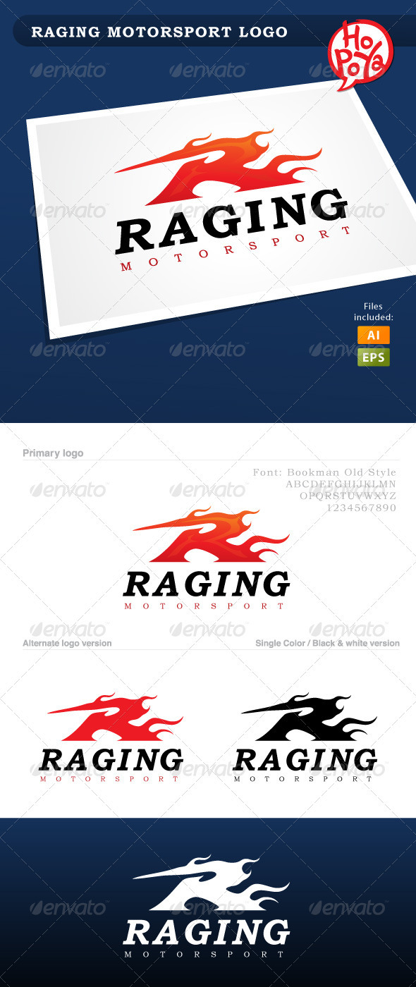GraphicRiver Raging Motorsport Logo 3567189