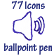 77 Vector Icons (pen)