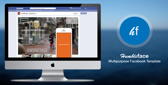 HumbleFace - Multipurpose Facebook Template