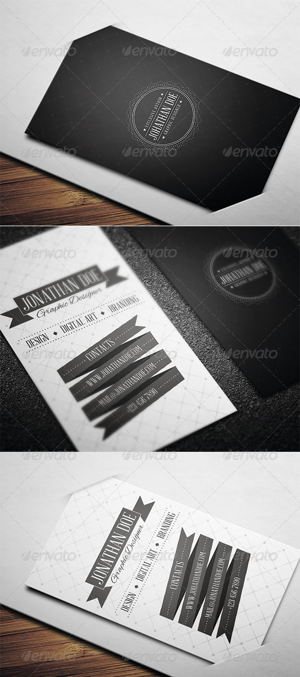 GraphicRiver Retro Business Card 3567520