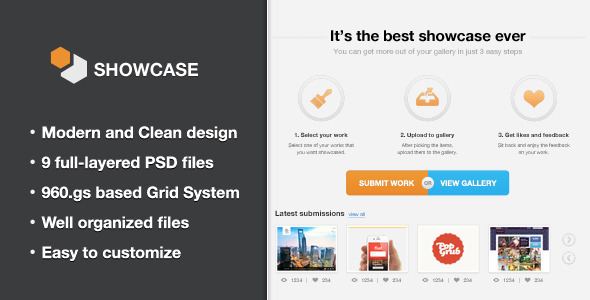 Showcase - Creative PSD Template - Creative PSD Templates