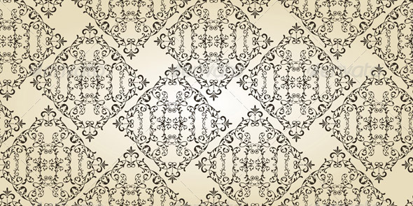 Vector Vintage Seamless  Floral Pattern - Patterns Decorative