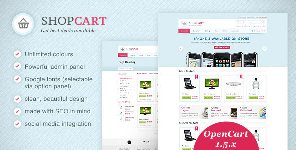ThemeForest ShopCart OpenCart theme with powerful options 532072