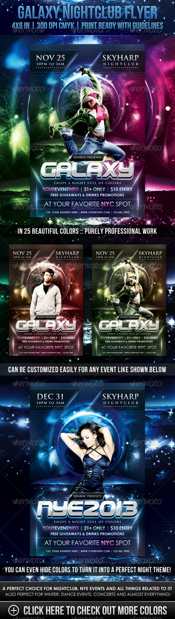 GraphicRiver Galaxy Nightclub Flyer 3509616