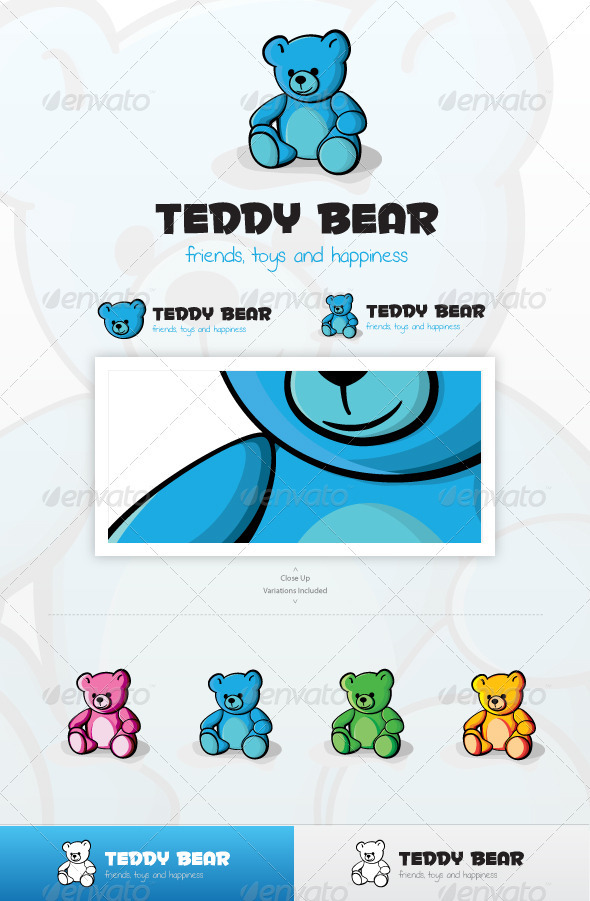 Teddy Bear Logo - Animals Logo Templates