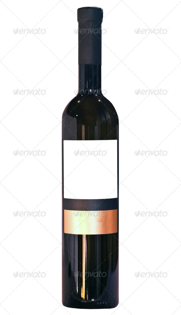 Isolated Wine Bottle - Stock Photo - Images