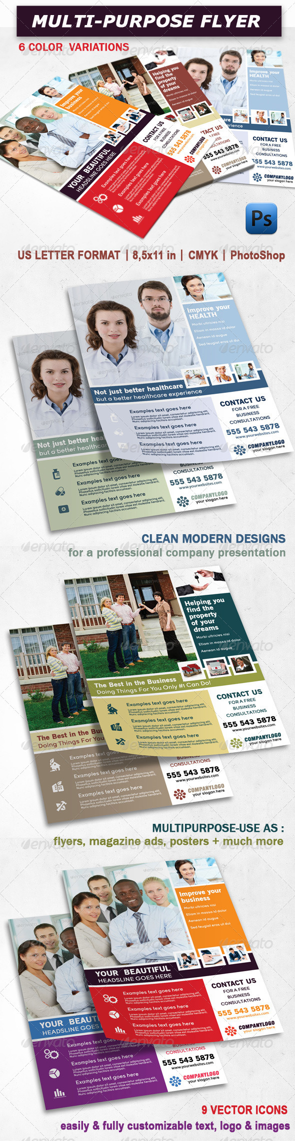 GraphicRiver Multi Purpose Clean Design Flyer 3568834