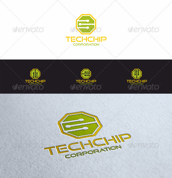 Tech Chip - Symbols Logo Templates