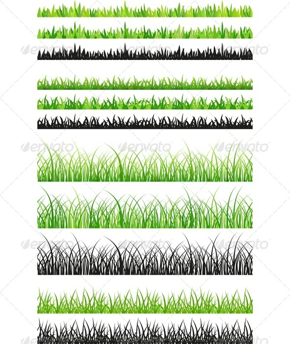 GraphicRiver Seamless Grass Set 3544768