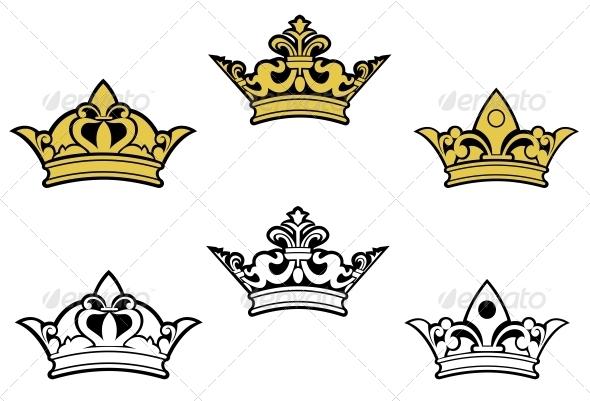 GraphicRiver Heraldic Crowns 3569113