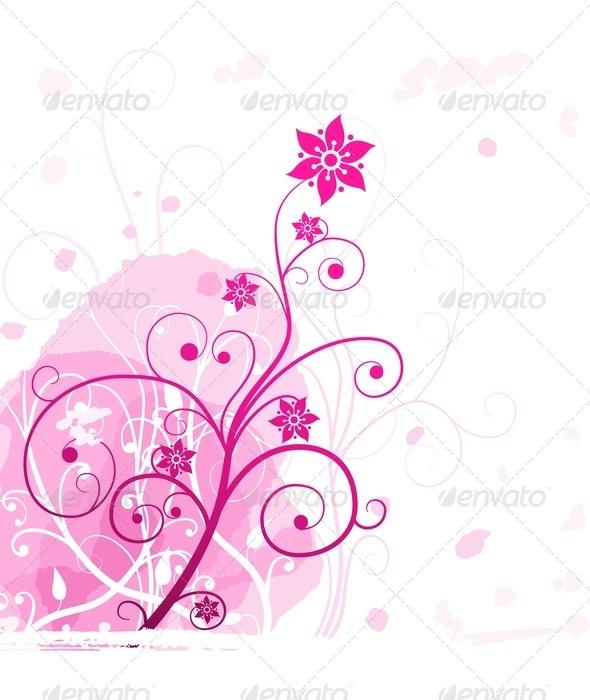 GraphicRiver Pink Grunge Flower 3549282