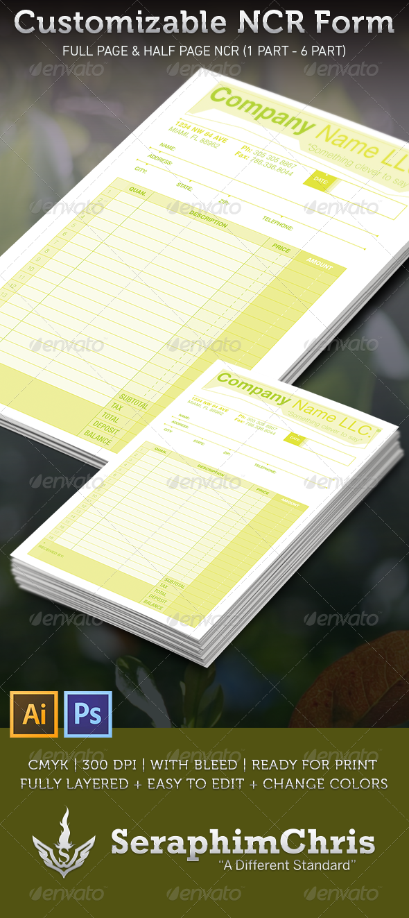 GraphicRiver Customizable NCR Form Template 3537080