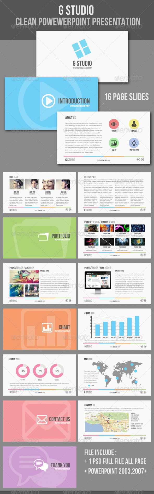GraphicRiver Clean Powerpoint Presentation Template 3569844