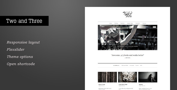 Two and Three - Portfolio WordPress Theme