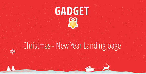 ThemeForest Gadget Christmas New Year Landing Page 3557264