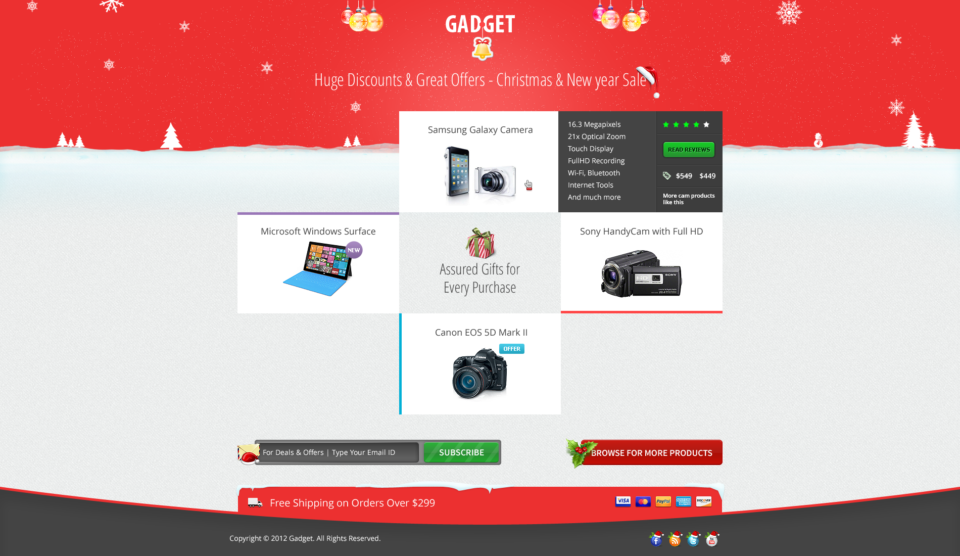 Gadget - Christmas - New Year Landing Page