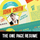 The One Page Resume - GraphicRiver Item for Sale