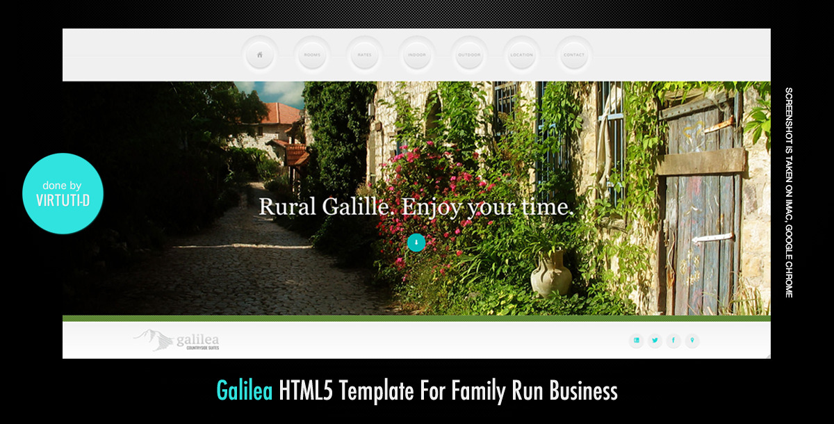 Galilea–Scrollable Imageless HTML5 Template
