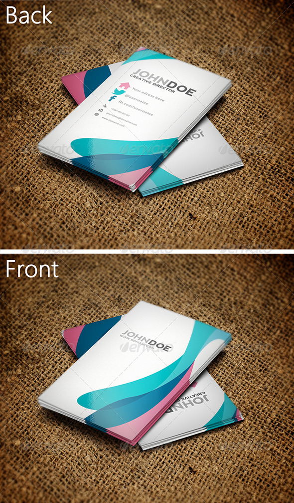 GraphicRiver Colorful Business Card 3 3572214