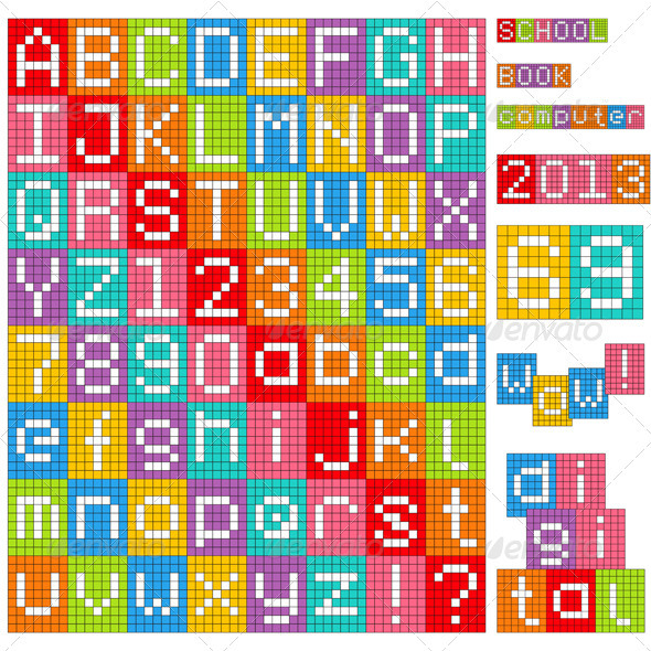 GraphicRiver Pixel Alphabet 3572301