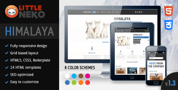 Himalaya | HTML5 & Fully Responsive Website Templa - Corporate Site Templates