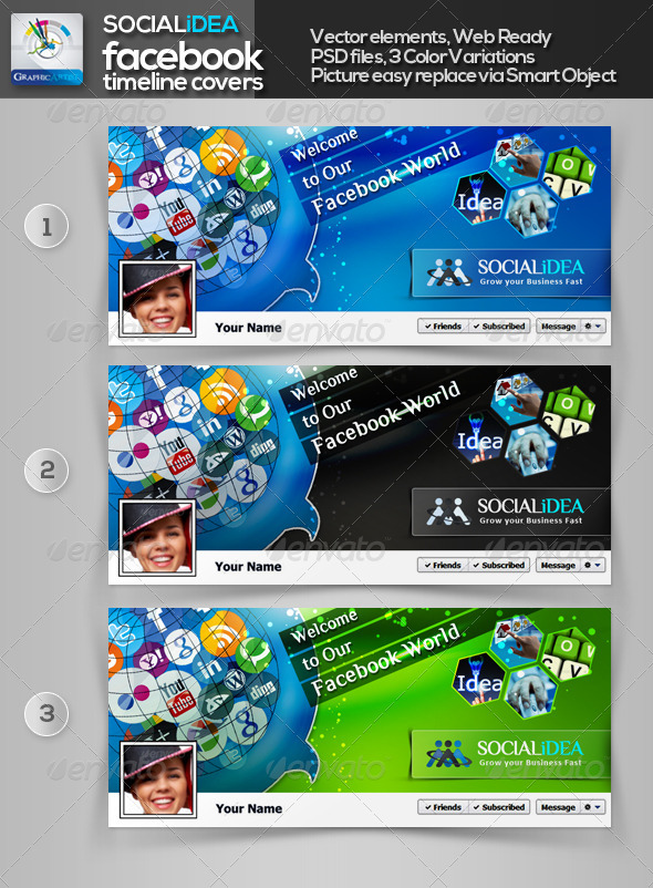 GraphicRiver Socialidea Social Media FB Timeline Cover 3572881