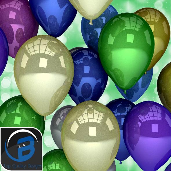 3DOcean Metalic Balloons 3572927