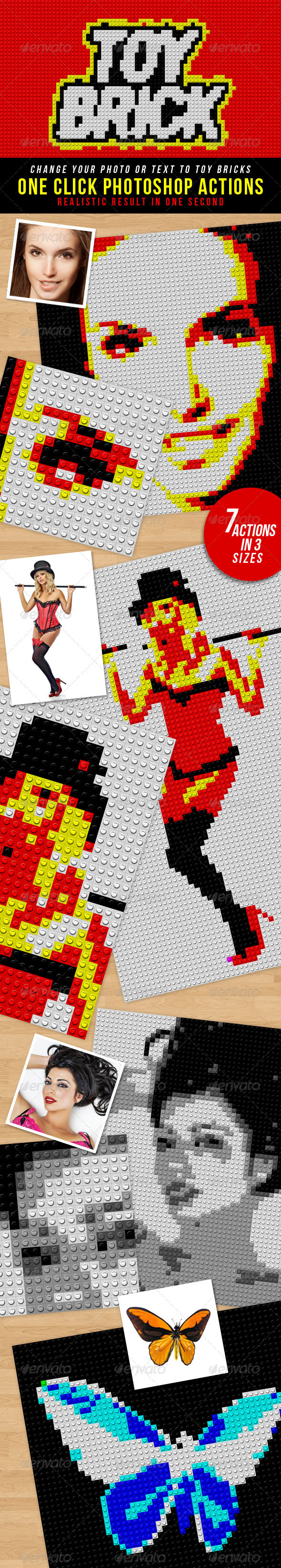 GraphicRiver Toy Bricks Photoshop Actions 3541280