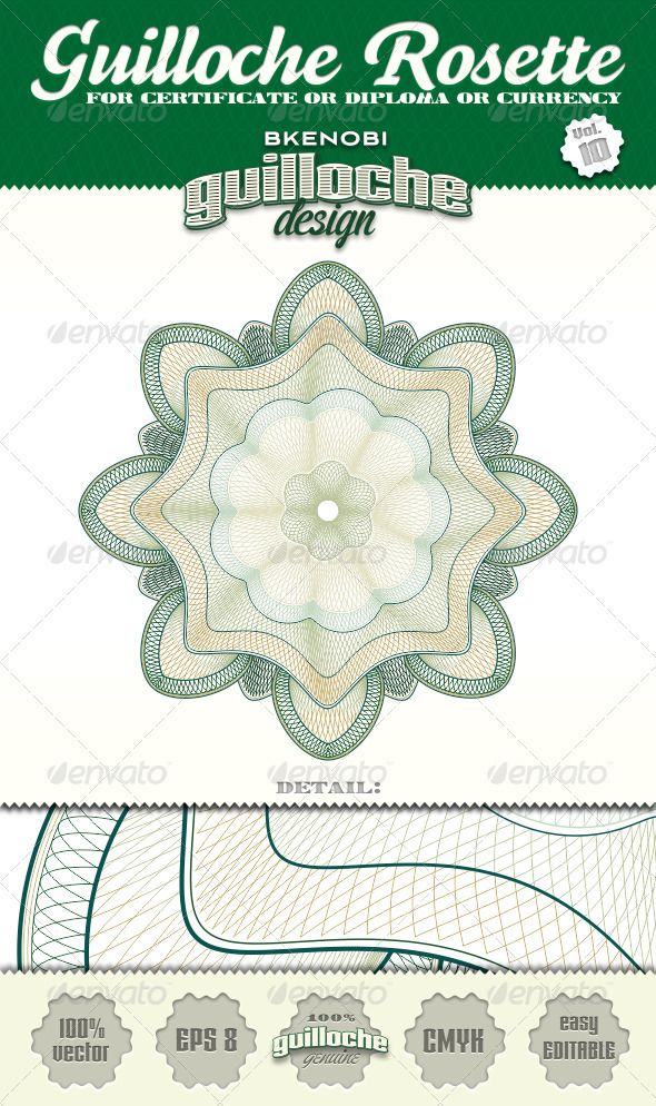 GraphicRiver Guilloche Rosette Vol.10 3573919