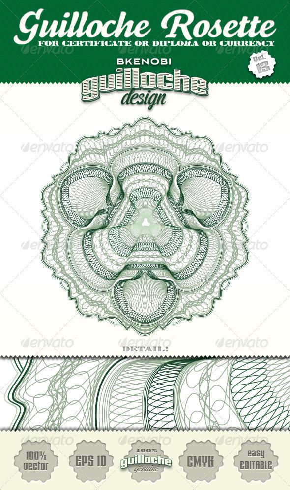 GraphicRiver Guilloche Rosette Vol.13 3573925