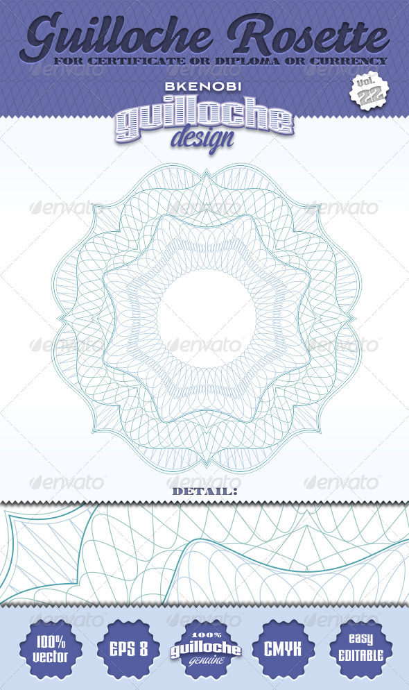 GraphicRiver Guilloche Rosette Vol.22 3574122