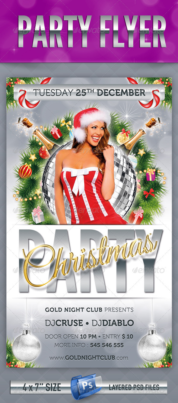 GraphicRiver Christmas Party Flyer 3574186
