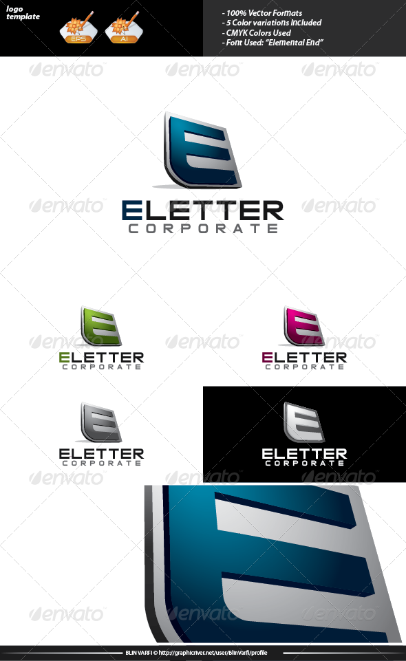 GraphicRiver E Letter Logo Template 3575044