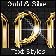 Gold &amp;amp; Silver - Text Styles - GraphicRiver Item for Sale