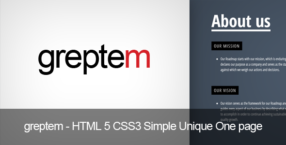 GReptem - HTML 5 CSS3 Simple One page  - Creative Site Templates