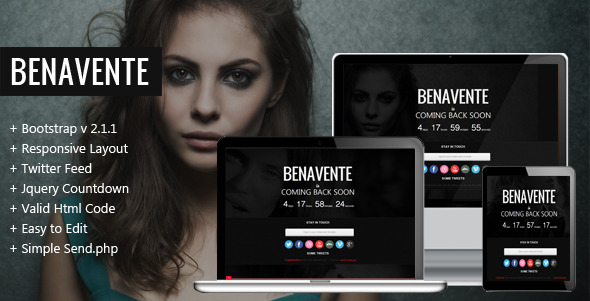ThemeForest Benavente Coming Soon Template 3569851